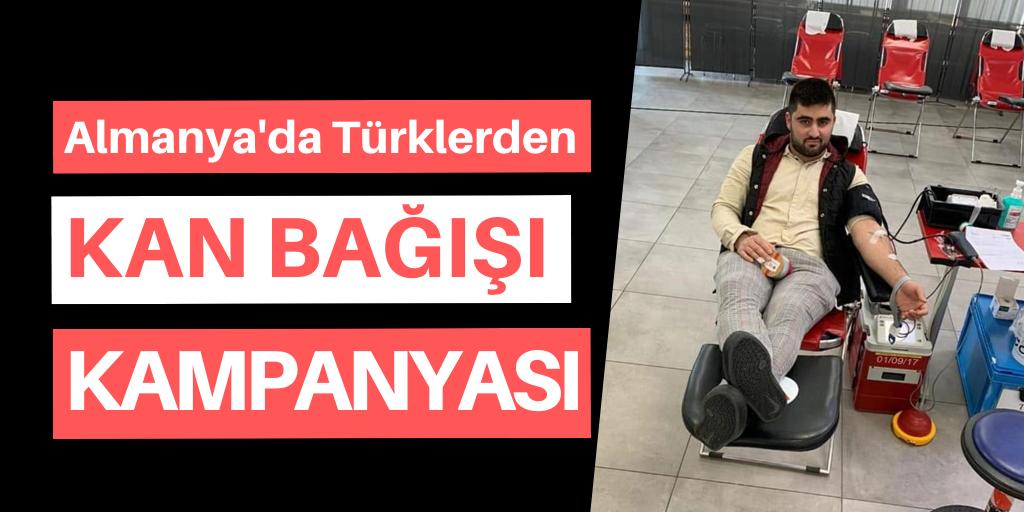 Almanya'da Türklerden kan bağışı
