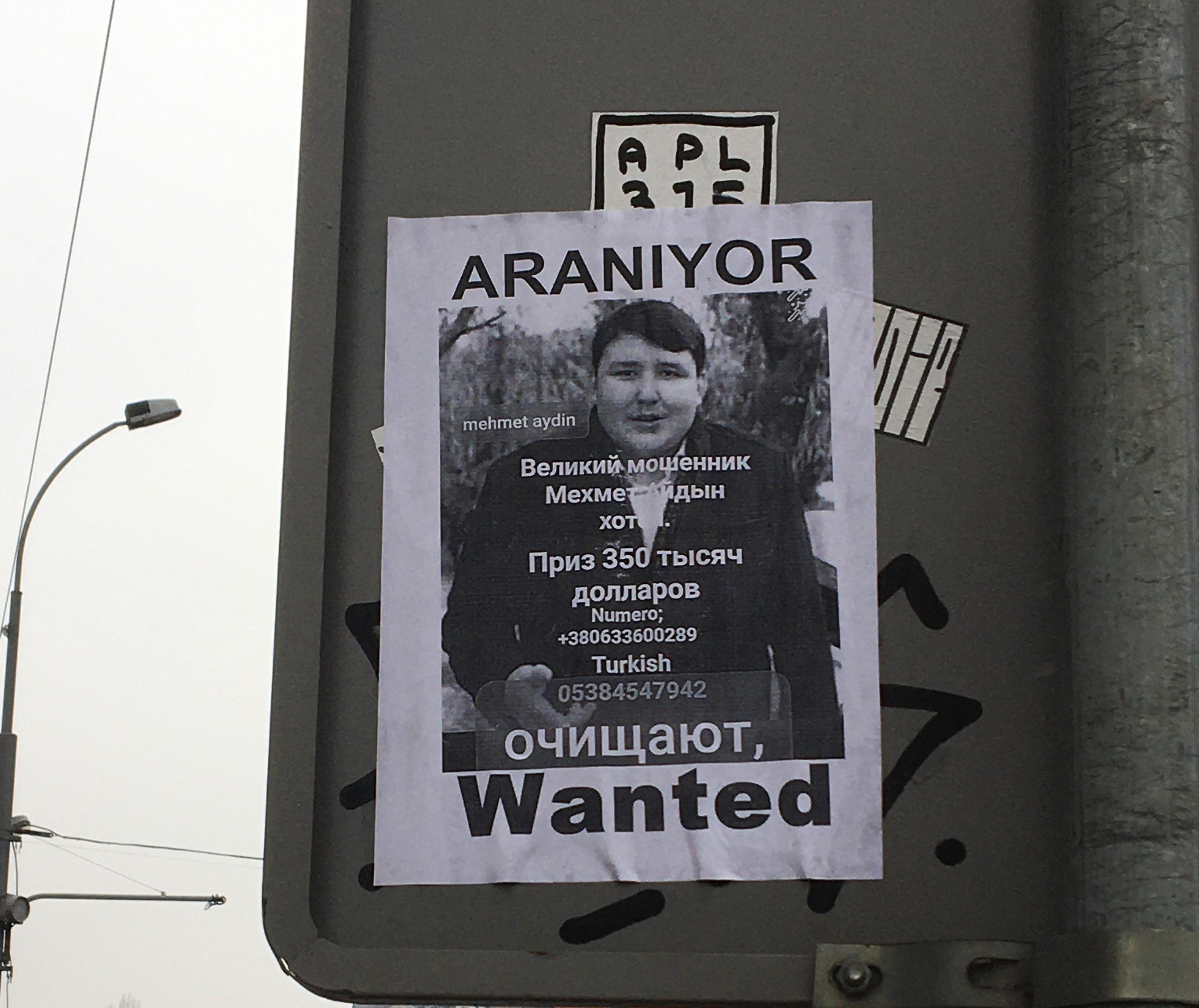 'Tosuncuk' Kiev sokaklarında aranıyor