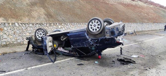 Gurbetçi aile sıla yolunda kaza yaptı: 1 ölü, 1 yaralı