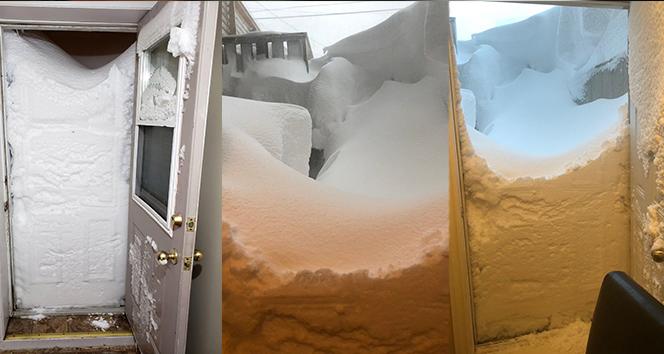 Kar kalınlığı 10 saatte 2 metreyi aştı