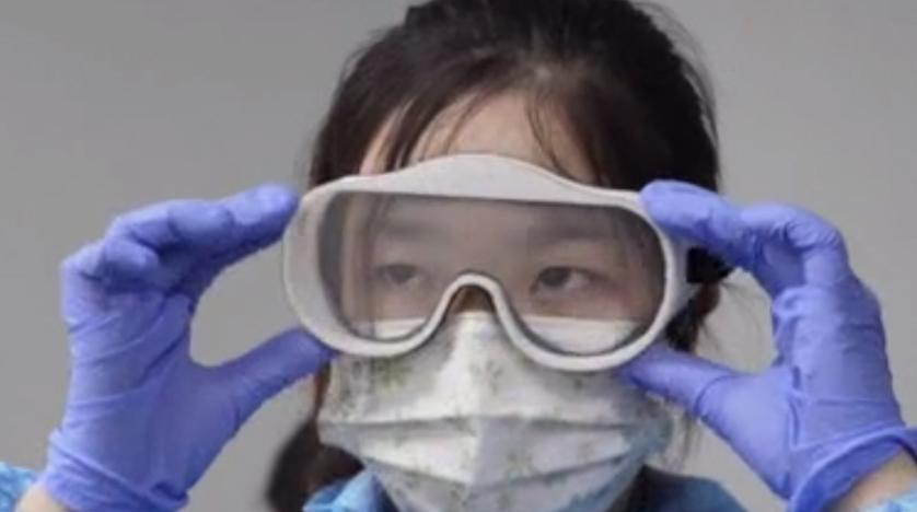 Corona'dan koruyan gözlük üretildi