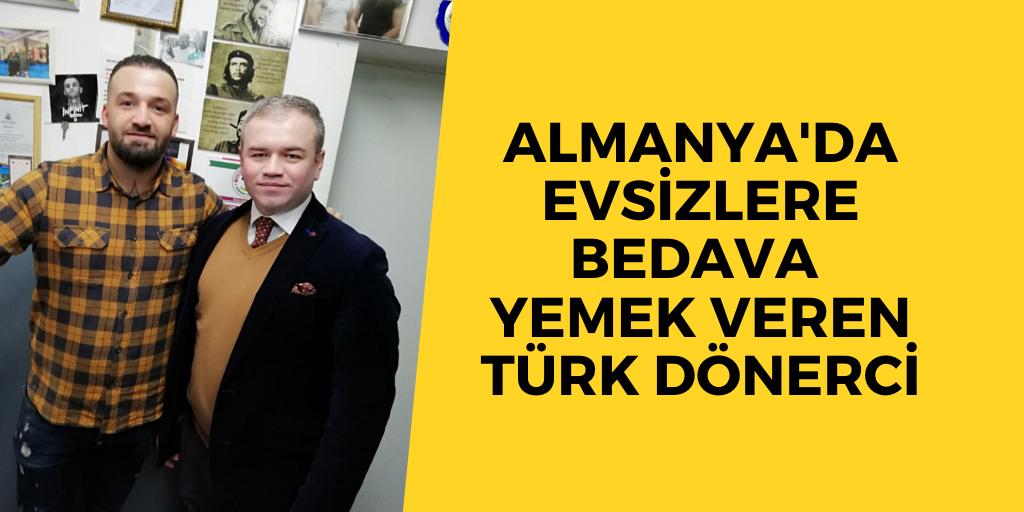 Evsizlere yemek veren Türk dönerci