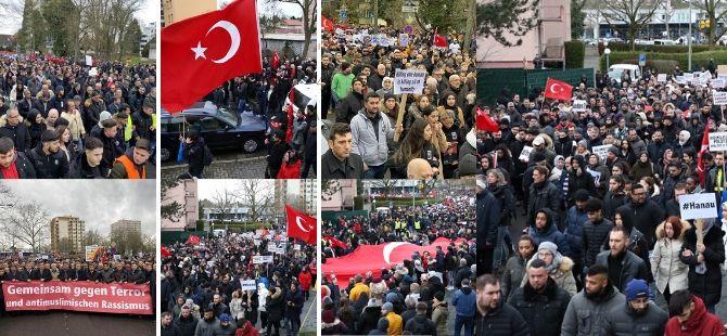 Hanau'da binlerce kişi ırkçı terörü lanetledi