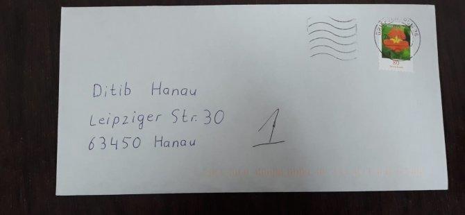 Hanau'da camiye tehdit mektubu