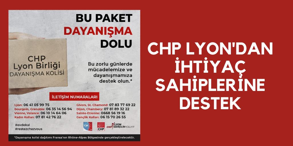 CHP'den Lyon'da dayanışma kolisi
