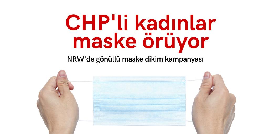 CHP'li kadınlar maske örüyor