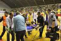 Basket maçında akılalmaz kaza