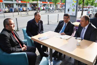 Mustafa Yeneroğlu, Frankfurt esnafını ziyaret etti