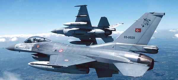 Türk F-16'larına havadan ve karadan taciz
