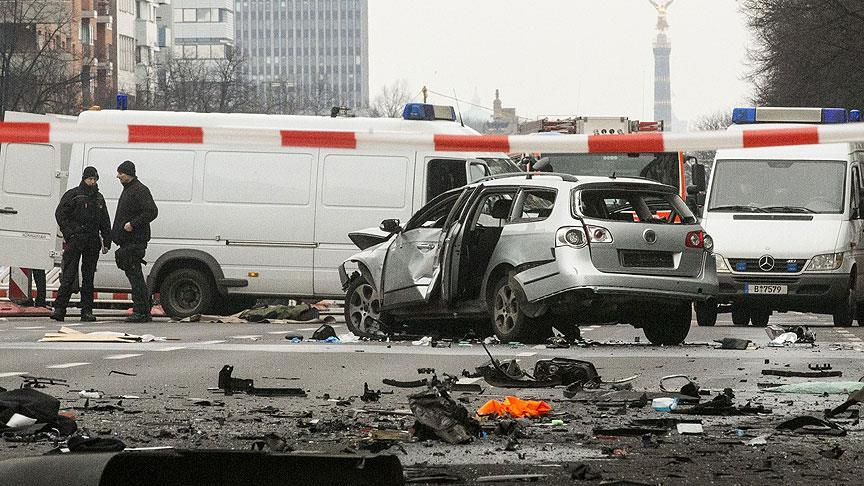 Berlin'de patlatılan araçta organize suç örgütü şüphesi