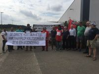 Belçika'da direnen işçi Ali Çetin'e polis müdahalesi