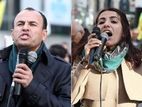 HDP'li vekiller Brüksel'de protestoda