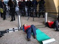 50 protestocu için olağanüstü güvenlik önlemi
