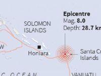 Solomon Adaları'ında 7.8 büyüklüğünde deprem