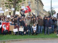 Strazburg'da referandum protestosu