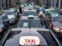 Paris'te taksiciler eylem yaptı
