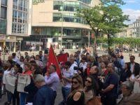 CHP'den Frankfurt'ta Sözcü protestosu