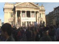 Brüksel'de Nato karşıtı protesto