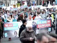 Brüksel'de hükümete protesto