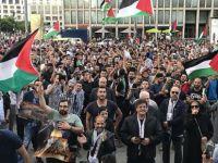 Almanya'da Mescid-i Aksa'ya destek gösterisi