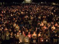Binlerce kişi şiddet olaylarını protesto etti