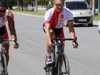 Almanya'dan Erzincan'a dostluk için pedal çevirdiler