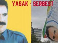 Almanya'da Öcalan posteri komedisi