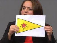 Almanya Meclisi'nde terör örgütü bayrağı