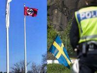 Hitler'in doğum gününde belediye binasına Nazi bayrağı