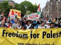 Hollanda'da 'İsrail' protestosu