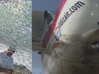 İzmir'de otomobile uçak çarptı