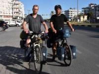 Bisikletli gezginlerin yolu Türkiye'de kesişti
