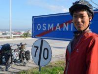 Almanya'dan Türkiye'ye bisikletle gitti