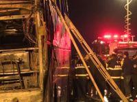 Tur otobüsü yandı: 26 ölü, 30 yaralı