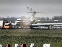 Uçak pisten çıktı, havalimanı inişe kapandı
