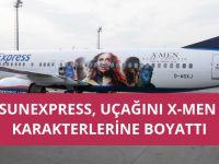 SunExpress uçağı X-Men'e boyattı