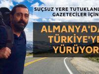 Almanya'dan Türkiye'ye yürüyerek gidiyor