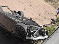 Gurbetçi aile bayram yolunda kaza yaptı