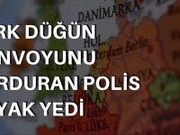 Türk düğün konvoyunu durduran polis dayak yedi