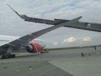 2 uçağın kanatları birbirine çarptı