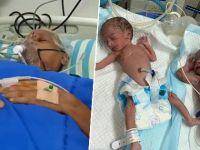 74 yaşında, ikiz doğurdu