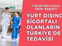 Yurt dışında sigortalıların Türkiye'de tedavisi