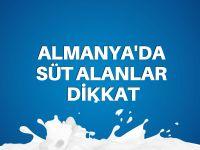 Almanya'da yağsız süt alanlar dikkat!