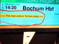 Almanya'da istasyonda 'Tel Aviv' krizi