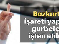 """""""Bozkurt"""" işareti yapan gurbetçi işten atıldı"""