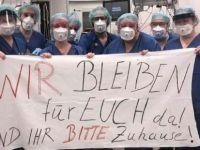 Almanya'da sağlıklılara alkışlı destek