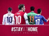 Özil'den 'evde kalanlara' Arsenal maçına davetiye
