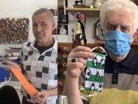 Gurbetçi terziler maske üretimine başladı