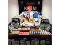 Piyasa sürülmeye çalışılan kaçak sigaralar KOM ekiplerince ele geçirildi