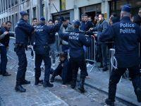 Brüksel'de terör protestosunda arbede